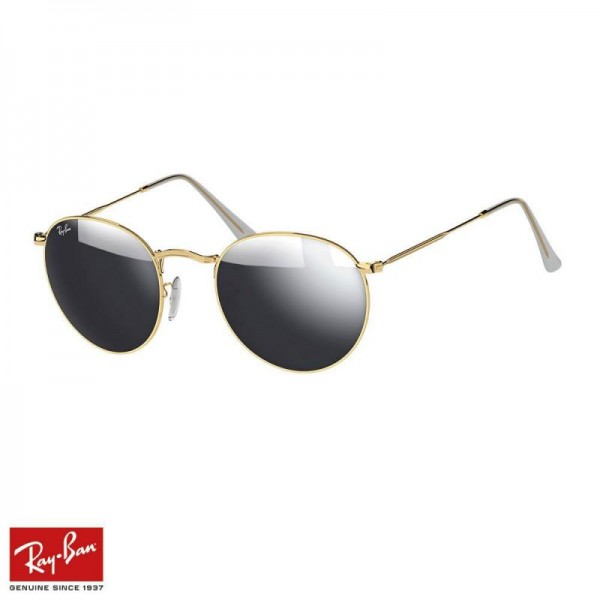 Rayban Round Flash Gözlük Flash Gümüş Altın Güneş Gözlüğü