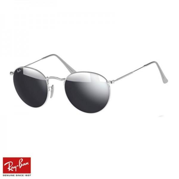 Rayban Round Flash Gözlük Flash Gümüş Gümüş Güneş Gözlüğü