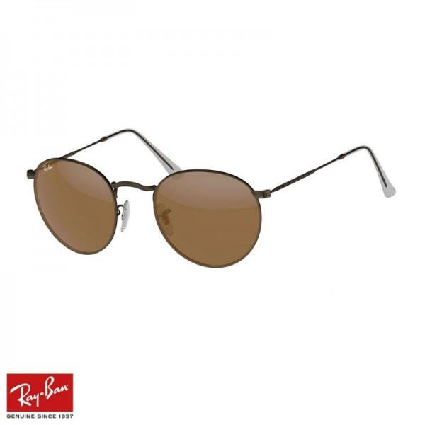 Rayban Round Flash Gözlük Kahverengi Bronz Güneş Gözlüğü