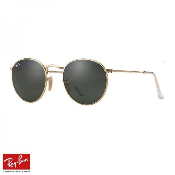 Rayban Round Metal Gözlük Yeşil Altın Güneş Gözlüğü