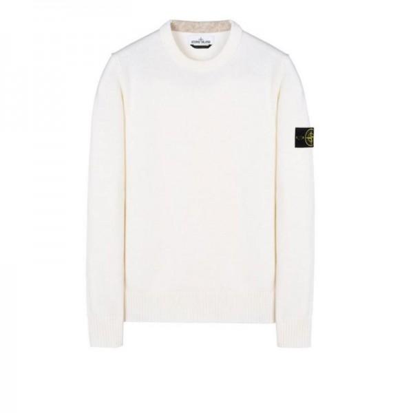 Stone Island Crewneck Sweatshirt Beyaz Erkek