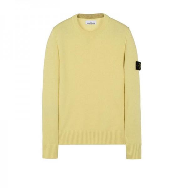 Stone Island Crewneck Sweatshirt Sarı Erkek