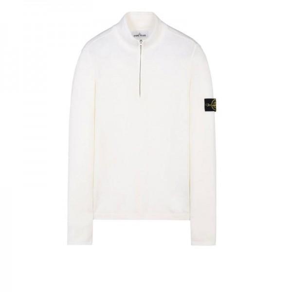 Stone Island High Neck Sweatshirt Beyaz Erkek