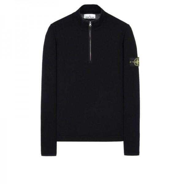 Stone Island High Neck Sweatshirt Siyah Erkek