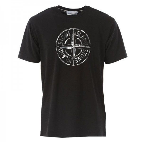 Stone Island Logo Tişört Siyah Erkek