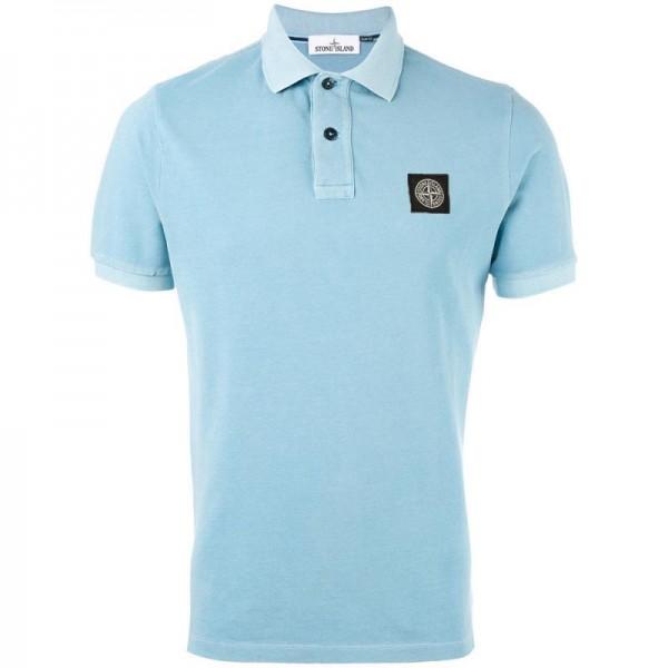 Stone Island Polo Tişört Açık Mavi Erkek