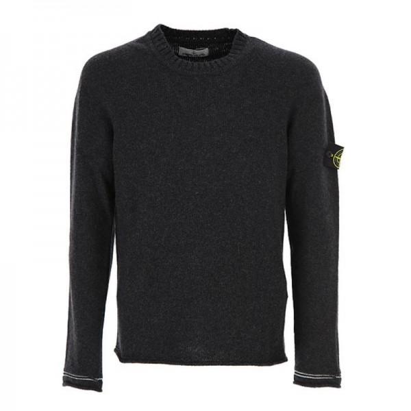 Stone Island Sweatshirt Siyah Erkek