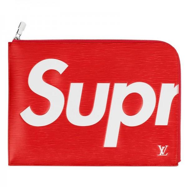Supreme Louis Vuitton Cüzdan Kırmızı Kadın