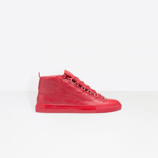 Balenciaga High Sneakers Arena Ayakkabı Kırmızı