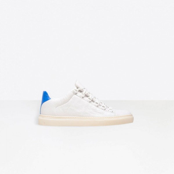 Balenciaga Low Sneakers Arena Ayakkabı Lacivert Beyaz
