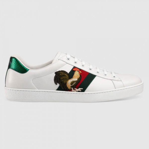 Gucci Ace Cock Sneaker Ayakkabı Beyaz