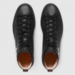 Gucci High-Top Tiger Yüksek Erkek Ayakkabı Siyah