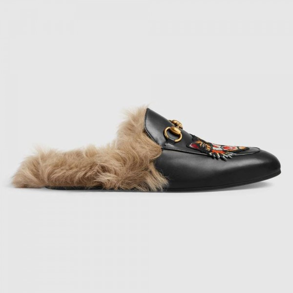 Gucci Pricetown Slipper Angry Cat Siyah Ayakkabı