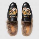Gucci Pricetown Slipper Tiger Siyah Ayakkabı