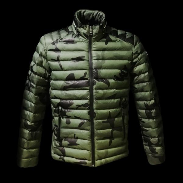 Moncler Camouflage Erkek Mont Yeşil