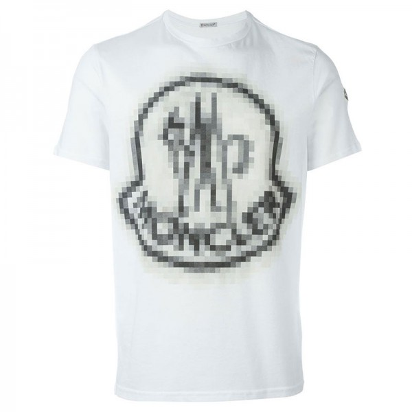 Moncler Beyaz Pixelated T-Shirt